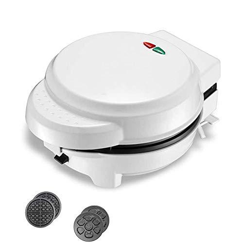 Hammer Waffle Maker- Preparar el Desayuno Divertido y Fresco for los niños y Adultos con la Novedad de panqueques de Diferentes Formas en Minutos eléctrica Antiadherente Waffler Hierro (Color: Rojo)