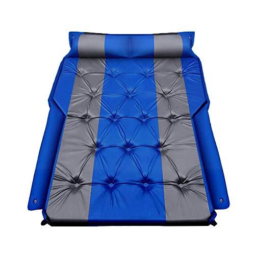 Colchoneta hinchable para coche con asiento trasero portátil, para camping, al aire libre, color azul
