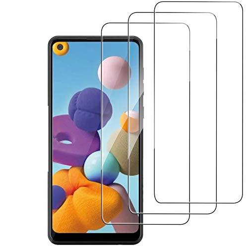 Ferilinso [3 Stück] Samsung Galaxy A21S / A21 Panzerglas Schutzfolie Bildschirmschutzfolie [Kompatibel mit Handy Hülle] [9H Festigkeit] [2.8D Rand] [Anti-Kratzen] [Blasenfrei] [HD] [Anti-Fingerabdruck]