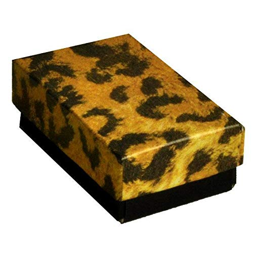 Leopard Print Cotton Filled Jewelry/Packaging/Gift Boxes ~ Pack of 100