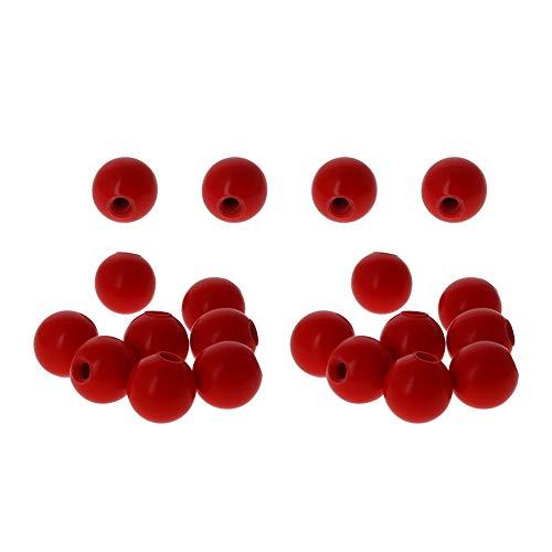 Othmro M5 red Handle 20mm Grips Galvanized Handle Star Head Male Screw Type Bakelite Clamping Knob 20pcs