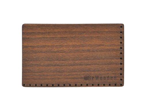 BeWooden Kartenetui Kreditkartenetui Kartenbörse Brunn Note Holz und Leder
