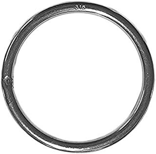 Stainless Steel 316 Round Ring Welded 6mm x 80mm (1/4