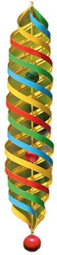 Windspel - spindel lang - Rainbow - metaal - Ø 14cm / hoogte: 75cm - incl. ophanging (ketting: 40cm)