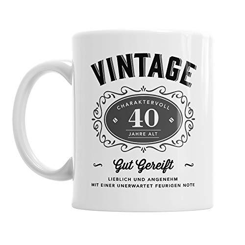 Diseño Invent, impreso. Taza para el 40 cumpleaños, apta para hombres, idea de regalo, color blanco, aprox. 285 ml - 10 oz