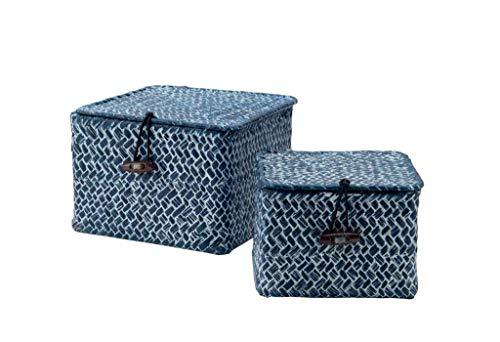 Compactor–Tresor–Cesta para almacenar posidonias, Juego de 2, Azul, 15.0 x 15.0 x 10.0 cm