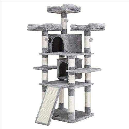 DAYUMAOJIN Árbol de Gato Tower, sisal Natural arañazo de Gato Columna de arañazo de Gato Desmontable casa del árbol del Gato