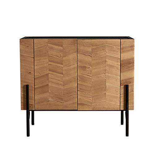 ZzheHou Massivholz Sideboard Vintage Buffet Anrichte Multifunktionsregal Schrank Eingang Esszimmer Cabine Geeignet für Wohnzimmer (Color : Natural, Size : 100x45x87cm)