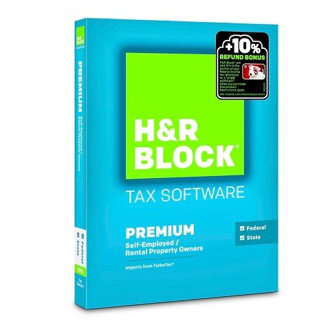 H&R Block 2015 Premium + State Tax Software - PC/Mac Disc