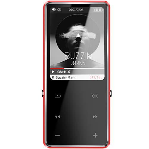 Sotefe 32GB Lettore MP3 Bluetooth 4.0 Musica Lettore MP3 MP4 Digitale Portatili Player FM Radio Reg istrazione Altoparlante Video Hi-Fi Super Suono Supporta Carta a 128GB giocare più di 100ore