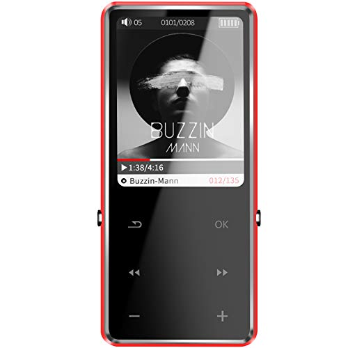 SOTEFE® 32GB Reproductor MP3 Bluetooth 4.0 MP3 Player 2.5D Pantalla BotónTáctil Multi-función Altavoz Súper Sonido/Video/FM Radio/ E-Book/Registro Juegar Música Más 100H(Soporte Tarjeta hasta 128GB)
