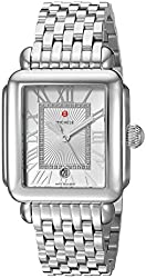 top 10 michele deco watch Ladies Swiss Michel Decomadison Quartz Watch, Stainless Steel Bracelet, Silver, 18 (Model:…