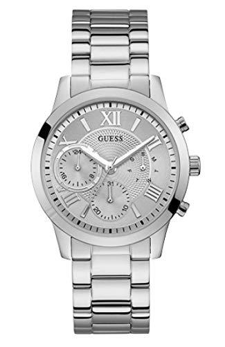 Guess Damen Analog Quarz Uhr mit Edelstahl Armband W1070L1