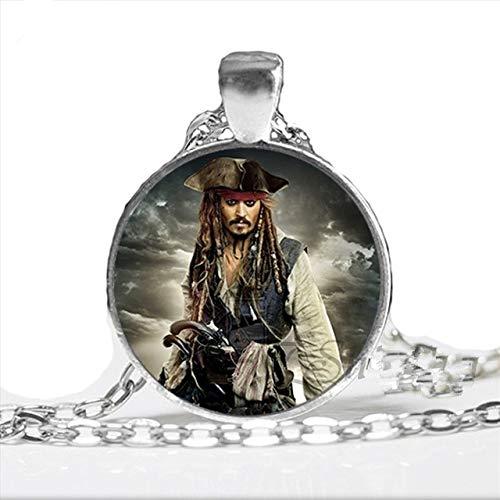 Fluch der Karibik Halskette Handgemachte Piraten Karibik Schmuck Glas Foto Cabochon Halskette
