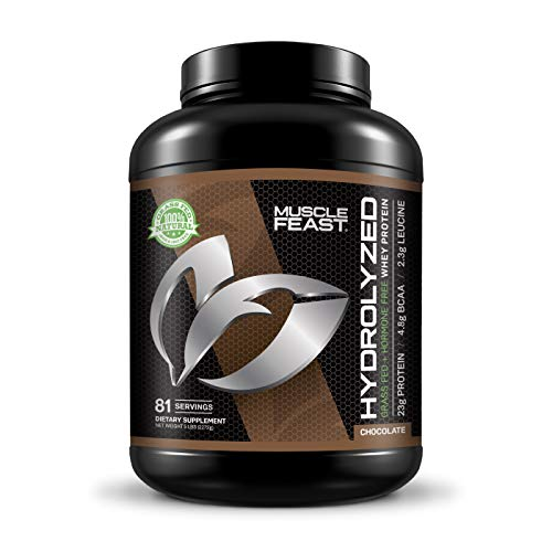 MUSCLE FEAST Grass Fed Hydrolyzed Whey Protein, All Natural, Hormone Free, Fast Digesting, 100%...