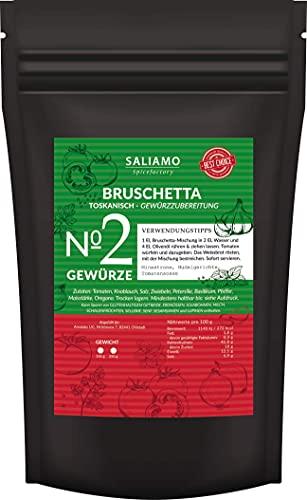 100g Bruschetta Gewürz - Toskanisch Gewürzmischung mit Tomate, Knoblauch, Salz, Petersilie, Basilikum, Pfeffer, Oregano, als Dip und zum marinieren von Fleisch geeignet | Saliamo