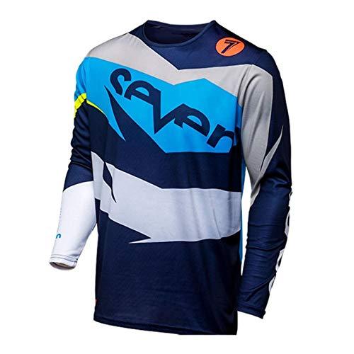 GBYGDQ Seven Motocross Jersey Downhill Langarm Jersey Mountainbike Shirt Motorradbekleidung (Farbe: Khaki, Größe: XXXL)