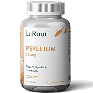 PROMOTES REGULARITY- Do you ever experience the uncomfortable feeling of bloating and constipation? Natural Psyllium fiber supplement capsule can help ease these symptoms. It is a soluble fiber supplement that absorbs water from the gut to soften bow...