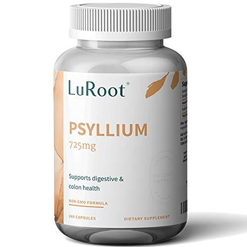 Psyllium Husk Seed Powder Capsules, 240 Capsules - 725 mg per Serving,...