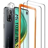 Widamin 2Pack Panzerglas Schutzfolie für Xiaomi Mi 10T 5G/ Mi 10T Pro 5G, 2 Stücke Kamera Panzerglas, Hohe Auflösung Glas Mit Positionierhilfe, [9H Festigkeit], [Crystal Clearity], [No-Bubble]
