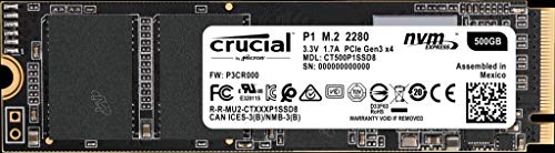 Crucial(クルーシャル) P1シリーズ 500GB 3D NAND NVMe PCIe M.2 SSD CT500P1SSD8