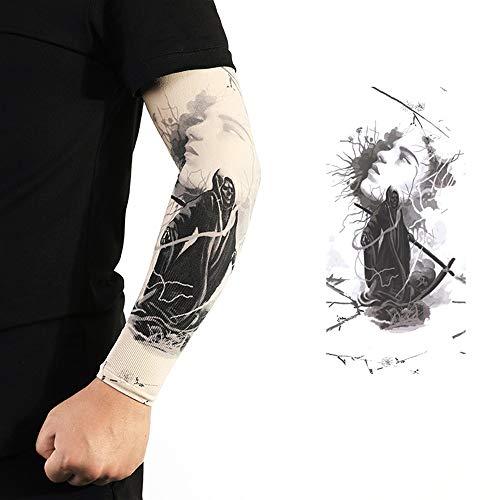 Manchon de tatouage DHR Manchon de tatouage Bras sans couture Tattoo Manchon de glace Conduit Manchon de protection solaire Protège-bras Garde main en soie glacée Manchon de bras 1 paire