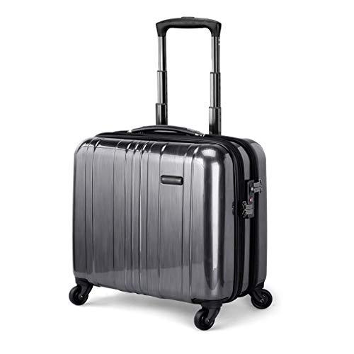 Lichtgewicht PC Rolling Laptop Case, Hard Shell Houd Check in Bagage Suitcase, Draag op Hand Trolley Anti-Scratch Wear Resistant - Gebruik voor 2-3 dagen, Grijs