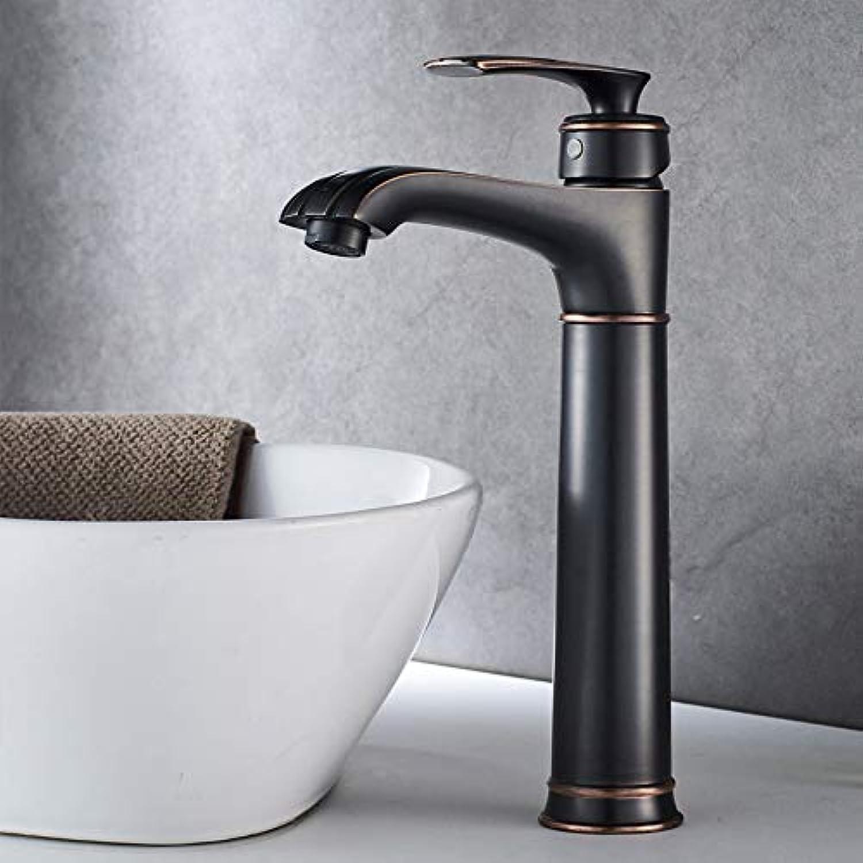 Schwarz Kupfer Bad Wasserhahn Heien Und Kalten Waschbecken Waschbecken Wasserhahn Hoch