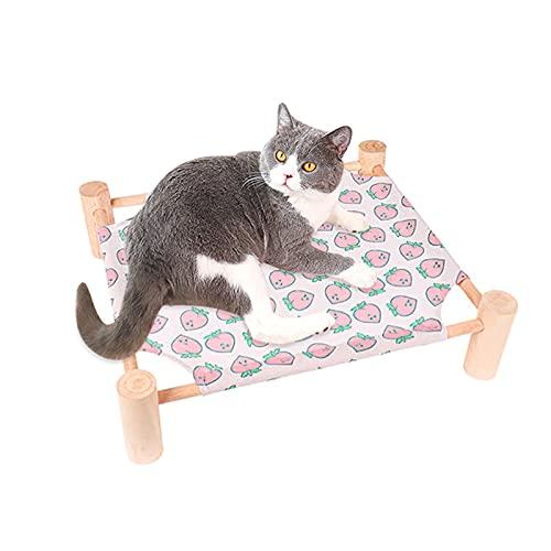 EASONGEE Hamaca de gato, desmontable y duradera para mascotas para gatos y cachorros, hamaca desmontable portátil para interiores y exteriores