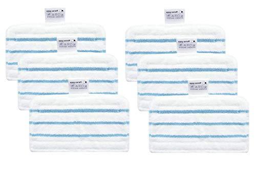 Green Label 6er-Pack Mikrofaser-Reinigungspads für BLACK+DECKER Dampfbesen (Vergleichbar mit FSMP20). Geeignet für: FSM1600, FSM1610, FSM1620, FSM1630, FSMH1621, FSM1500