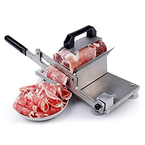 Hanchen manueller Fleischschneider 200MM Klinge Allesschneider gefrorene Lammfleisch Rinderfleisch Rolle Käse Gemüseschneider zu Hause Dicke einstellbar für Haushalt Geschäft Restaurant