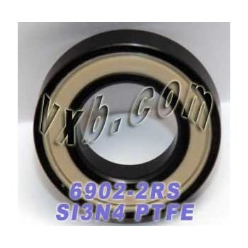 6902-2RS Bearing 15mm//28mm//7mm Ceramic Stainless ABEC-5