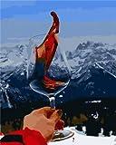 Lovmo Chica 5D Pintura Diamante Bordado de Diamante Completo Pintura Bordado DIY Pintura de Punto de Cruz, Utilizada para la decoración de la Pared del hogar (Diamante(Cuadrado 30 * 40cm)