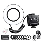 Godox RING72 Macro LED Ring Flash Light TLCI 97+ CRI 96+ Color Temperature 5600K 8W Brightness, with 8 Lens Adapter Rings Compatible with Canon Nikon and Other DSLR Cameras, W/Pergear Cloth