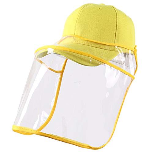 Artibetter 2Pcs Chapeau de Protection Écran Facial de Sécurité Anti-Éclaboussures de Salive Protection de La Tête pour Les Fournitures de Premiers Secours en Plein Air (Couleur Aléatoire)
