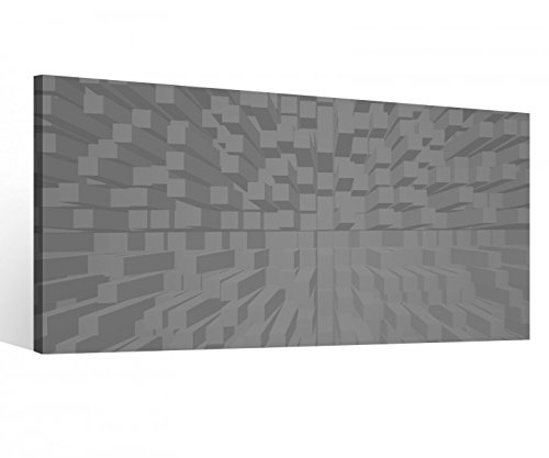Leinwandbild 1Tlg 3D Effekt Schachbrett Quadrate abstrakt Kunst Textur Muster Leinwand Bild Bilder Leinwandbilder Druck 9X215, 1 Tlg BxH:80x40cm