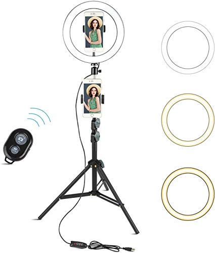 Arespark 10' Selfie Ring Light with 60' Adjustable...