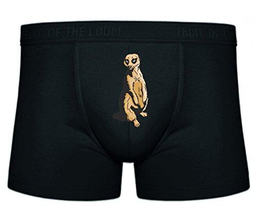 Boxershort Erdmännchen Surikate Scharrtier Steht Savanne Afrika Timon S- XXL Sexy Unterhose Slip Shorts