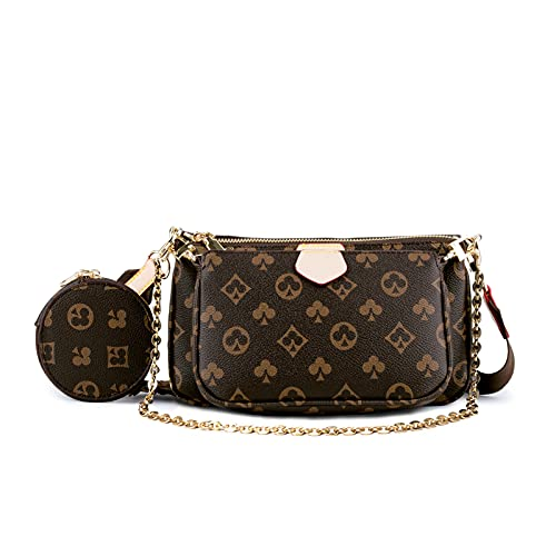 Crossbody Bags for Women - WOQED Trendy Purse Coin Pouch Tan Pochetthe Handbags Inluding 3 Size bags