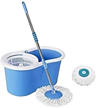360 Degree Easy Moving Spin Mop Bucket With 2 Refill With Wheel Aqua Green Medium