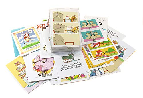 48 Different Funny Birthday Cards - Assorted Birthday Card Box Set of 48 Card & Envelopes
