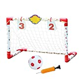 Vobajf-PSG Meta del fútbol portátil Mini Fútbol de Puerta for niños portátil portería de fútbol Objetivo Plegable Surge la Meta del fútbol (Color : As Shown, Size : 74x45cm)