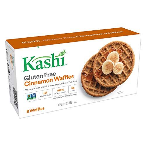 Kashi Frozen Waffles Cinnamon - Gluten-Free | Vegan | 10.1 Oz Box (8 Waffles)