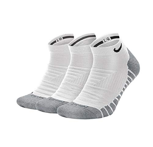 Nike Everyday Max Cushion No-Show Socks Socken 3er Pack (M, white/black)