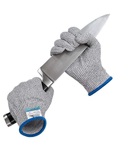 LauterSchutz® Schnittfeste Premium Handschuhe aus Kreuzfaser-PE-Stoff - Level 5 SCHNITTSCHUTZ [Deutscher Hersteller] Größe S bis XL (S)