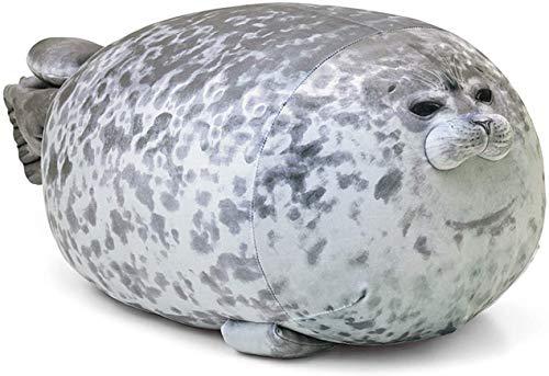MerryXD Chubby Blob Seal Pillow,Stuffed Cotton Plush Animal Toy Cute Ocean Medium(17.6 in)