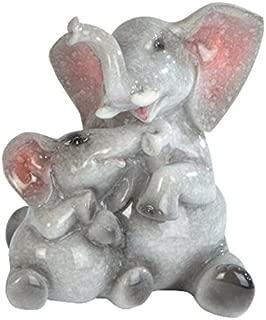 StealStreet Grey Elephant & Baby Elephant Figurine, 4