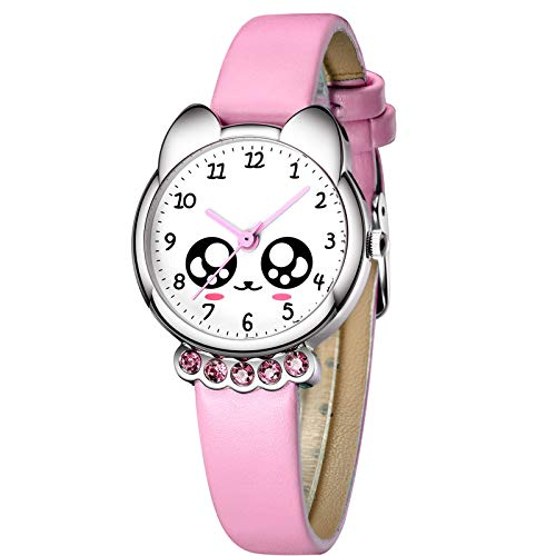 Relojes Niños Reloj de Pulsera Deportivo Impermeable de Dibujos Animados para Chicas Niñas Relojes de Cuarzo Azul Analógico Moda Diseñador Elegantes de para Niños Niñas Chicas (11 Rosado)