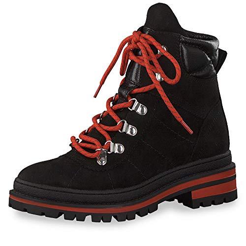 s.Oliver Femme Boots 25220-23, Dame Bottes à Lacets, Bottes Chukka,Lacets,Black Comb,42 EU / 8 UK