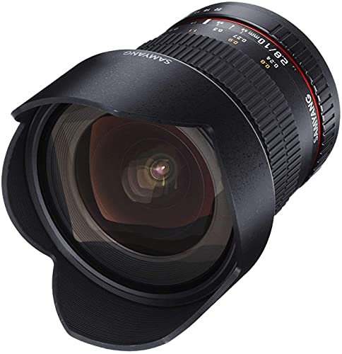 Oferta de Samyang F1120403101 - Objetivo fotográfico DSLR para Nikon F Ae (Distancia Focal Fija 10mm, Apertura f/2.8-22 ED AS NCS CS), Negro